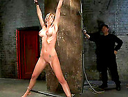 Samantha Sin Gets Her Snatch Toyed To Orgasm In Bdsm Scene