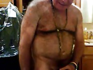 Hot Hirsute Daddy Stroking His Hard Cock And Cums
