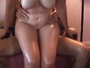 Oiled Plump Wife Rides Me