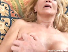 Slim Blonde Milf Enjoys A Sticky Facial Cumshot