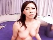 Luscious Asian Lady With Big Natural Boobs Enjoys A Stiff C