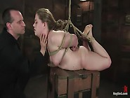 Tough Bitch.....  Sabrina Wolf In A Back Breaking Bondage Session