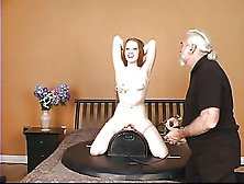 Sexy Young Brunette Has Some Hot Fun Riding The Sybian