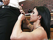 Professional Cock Sucker Jewels Jade Shows Her Talents On Keiran