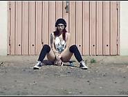 Shameless Red Head Strips Naked In Public.  (My New Favorite Vide
