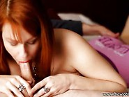 Redheaded Beauty Heike Takes Him To Blowjob Utopia
