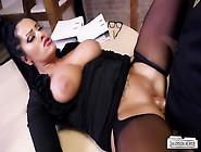 Bums Buero - Big Titted German Milf Secretary Eats Boss Cum In H