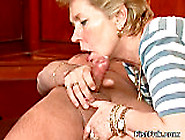 Lusty Blonde Mom In Stockings Is Fucked