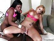 Jada Fire Watches And Plays As Trina Michaels Ass Is Fucked By T