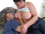 Big Breasted Bbw Wife Is Sucking His Big Dick And Getting Fucked