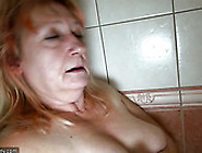 Fat Ugly Blond Haired Bitch Bernadett Masturbates Her Mature Pus