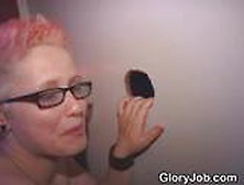 Emo Slut In Glasses Blowjob And Facial At Glory Hole