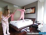 Teen In Pajamas Banged