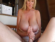 Mature Slut With Huge Boobs To Jerk Off A Guy's Dick