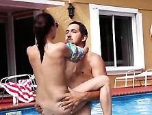 Teen Balls Deep Monster Cock First Time Swimming In Semen