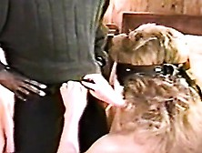 Spouse Jaws An Enormous Tough Black Pole While Blindfolded