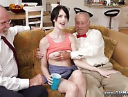 Old Mom Ass She Completes Up Penetrating Both Of Our Men At The