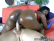 Monster Ass Black Slut Oiled And Riding Interracial