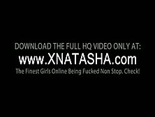 Slim Natasha Shy Gets Lesbo Snatch Dildoed On A Chair Outside
