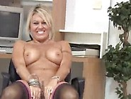 Hot Milf Slowly Bares Her Undies And Strokes Her Pink Pussy