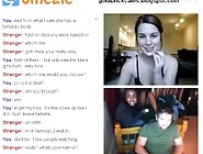 Girl Shows Off For Couple On Omegle