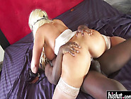 Tied Up Blonde Gets A Bbc