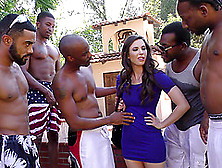 A Group Of Black Dudes Gangbang A White Girl And Jizz All Over H