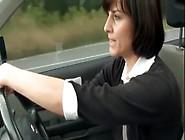 Mature Masturbates In Her Car