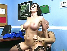 Kendra Lust Put On Some Hot Black Stockings And Said That She Is