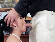 Bride Gets A Nasty Rough Fucking