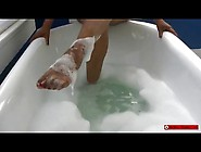 Ebony Femdom Goddess Bubble Bath Foot Worship