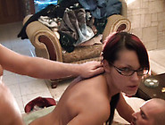 Nerdy Redhead Sensation Does Sexy Multi Cock Pleasing