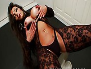 Sexy Big Phat Ass Brunette Shemale Teasing And Jerking