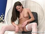 Stocking Clad Babe Masturbating