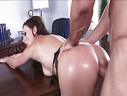 Tina Kay Lets Her Co-Worker Fuck Her Asshole & Swallows His Nut