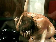 Hot Redhead Oil Wrestles And Fucks Scrawny Guy