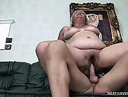 Busty Blonde Mature Lady Loves To Have The Young Stud's Cock Dri