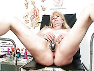 Blond Gramma Fetish Vagina Exam With Enema