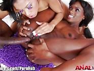 Analacrobats Ana Foxxx B-Ass-Ketball 3Some
