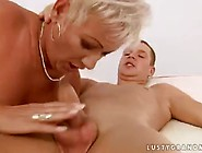 Hot Old Granny Cougar Cecile Bangs A Virgin Boy.