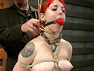 Sloane Soleil Gets Whipped And Fucked With A Toy In Bdsm Scene