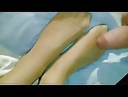 Her Nylon Feet Were Made For Cum