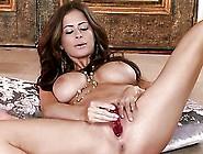 Busty Brunette Beauty Emily Addison Masturbating In Sexy Arabic