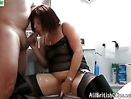 British Dirty Talking Thigh Boot Hottie Loves Cock