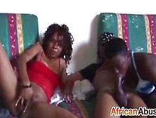 Black Whore From Africa Sucks Many Big Dicks