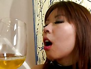 Slave Babe Made To Drink Her Man's Piss