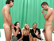 Three Hot Girls Get Fucked By Two Dudes In Cfnm Video