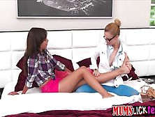Super Hot Milf Leads Two Lovely Teens In A Lesbian Thre