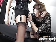 Femdom Strapon Jane Fucks Sexy Crossdresser From Behind