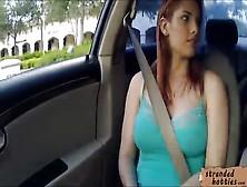 Busty Teen Rainia Belle Boned In The Car